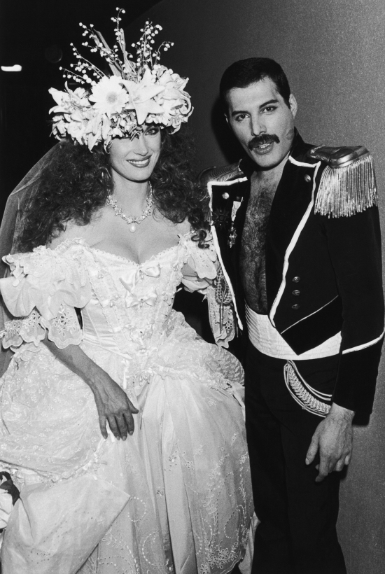 Freddie Mercury and  Jane Seymour at Fashion Aid, 1985