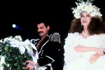 Freddie Mercury and Jane Seymour at Fashion Aid, 1985