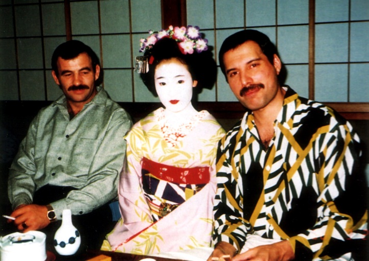Freddie Mercury and Jim Hutton in Japan