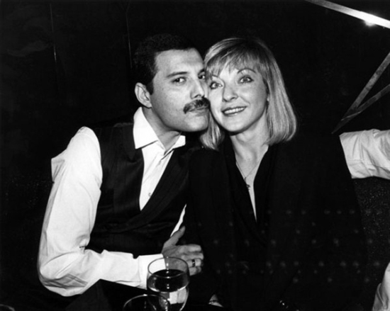 Freddie Mercury and Mary Ausitn