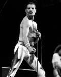 Freddie Mercury at the inaugural Rock In Rio Festival, 24th January 1985