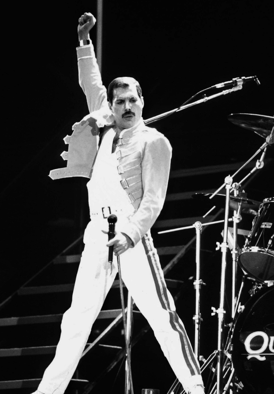 Freddie Mercury at Wembley, 1986