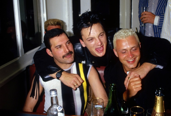 Freddie Mercury, Belouis Some and Mark O'Toole in Montreux