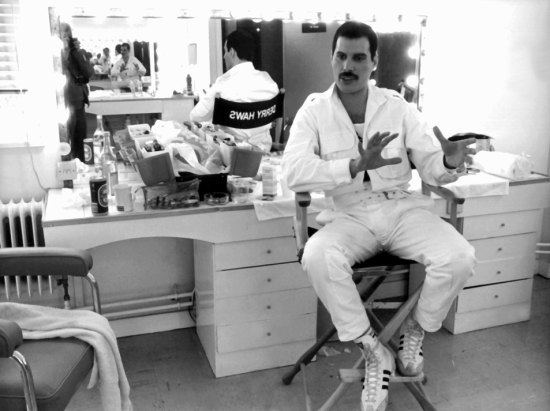 Freddie Mercury giving interview