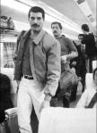 Freddie Mercury in train