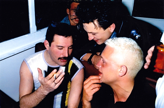 Freddie Mercury, Mark O'Toole and Belouis Some in Montreux
