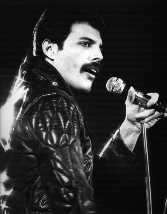 Freddie Mercury on stage in 1980