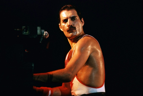 Freddie Mercury on stage in early 80's