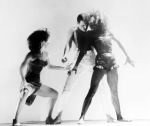 Freddie Mercury with dancers - 'I Was Born To Love You' video, 1985