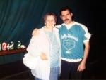 Freddie Mercury with fan (Leiden, 1986)