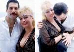Freddie with Barbara Valentin in Rio de Janeiro, Brazil - 1985