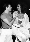 Freddie with Biba, Rio 1985