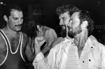 Freddie with Billy Connolly and Kenny Everett, 1984