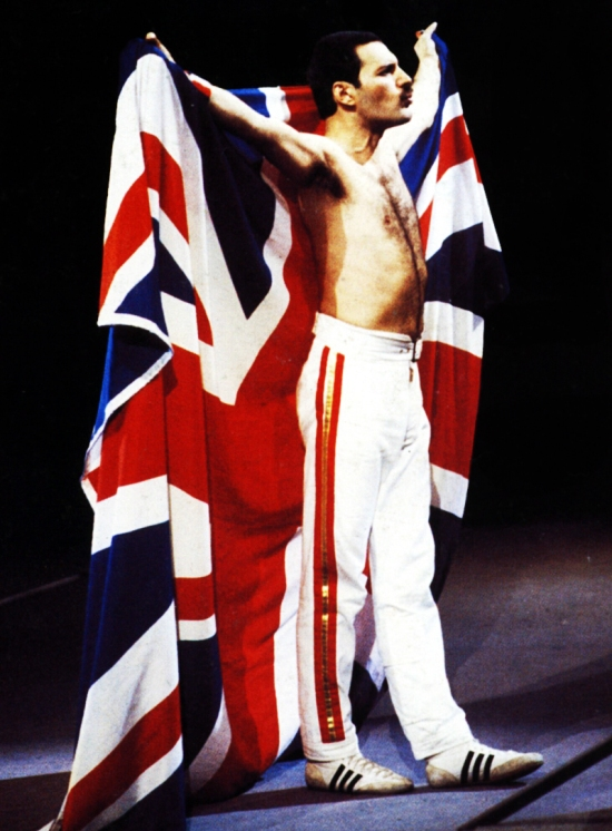 Freddie with british flag