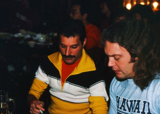 Freddie with James 'Trip' Khalaf (Sound Engineer)