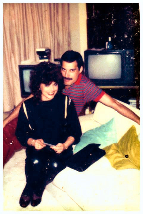 Freddie with fan