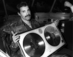 Freddie with his award on 25 April 1982. Photo by Rob Verhorst