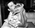 Freddie with his cat