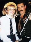 Freddie with Mary Austin at 39th birthday party