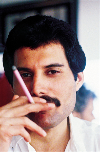 Freddie with pink cigarette
