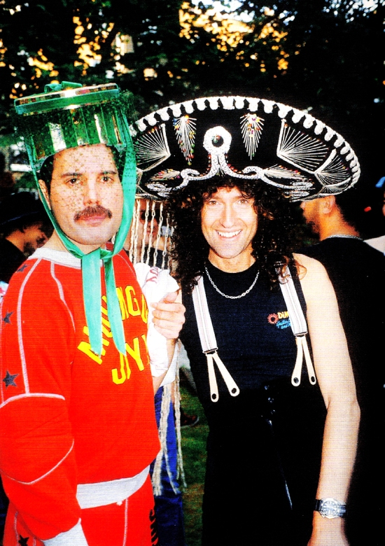Freddie's 40th birthday party, 1986