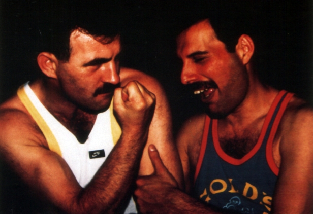 Jim Hutton and Freddie Mercury