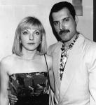 Mary Austin and Freddie Mercury