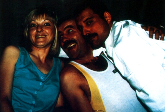 Mary Austin, Jim Hutton and Freddie Mercury