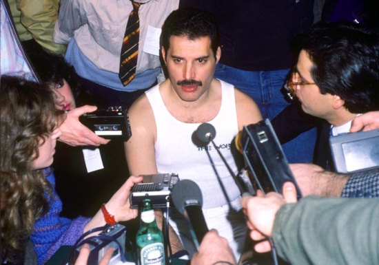 Press Conference (1984) [Photo by Mike Maloney]