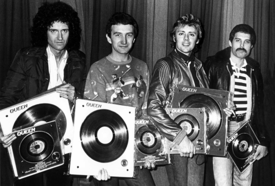Collecting gold discs for Crazy Little Thing Called Love