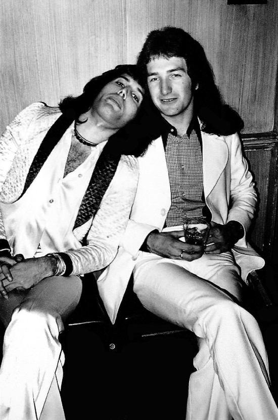 Freddie and John in  USA, 1974