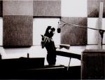 Freddie in Studio 3, De Lane Lea Studios; September '71 during the recording of Queen's very first demos.