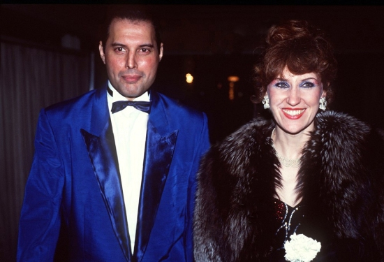 Freddie Mercury and Anita Dobson