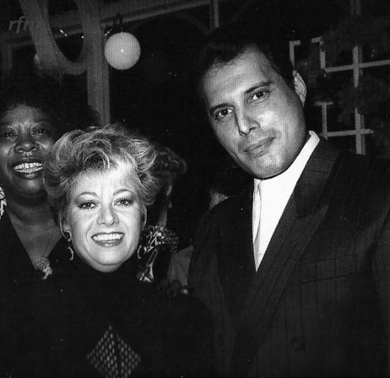 Freddie Mercury and Elaine Page