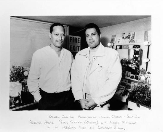 Freddie Mercury and Peter Straker