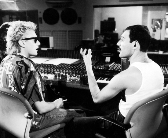 Freddie in Munich working on his first solo album, Mr Bad Guy