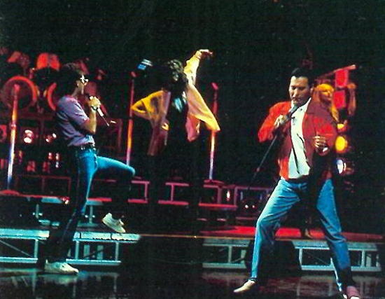 freddie-mercury-at-the-time-musical-at-dominion-theatre-with-cliff-richard-april-1988