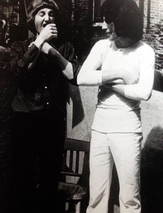 Freddie with friend