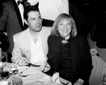 Freddie with Mary Austin at the Ivor Novello Awards, 1987