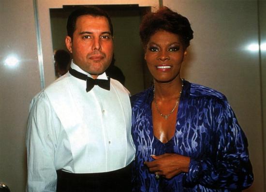 Freddie with Dionne Warwick