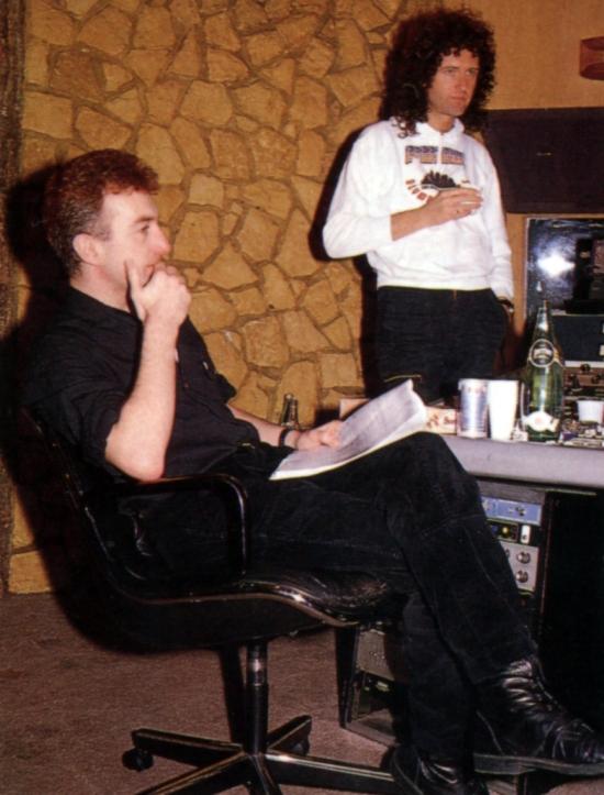 John and Brian in studio