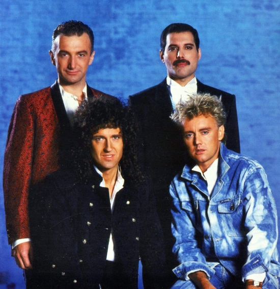 On the set of the 'Who Wants To Live Forever' promo video in September 1986.