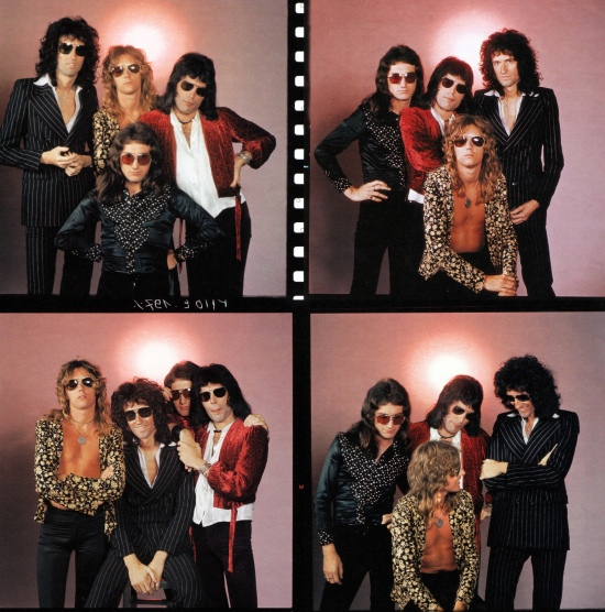 Photo session with Mick Rock in August 1974