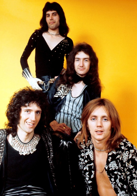 Queen 1973 first studio photosession (Photo by Michael Putland)