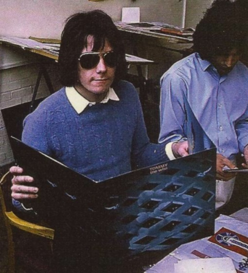Tim Staffell [Lead singer of Smile] with Freddie Bulsara at Ealing Art College, 1969