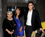 Freddie Mercury's Nephew Jamal Cooke (adoptive), sister Kashmira Bulsara-Cooke and his mother Jer Bulsara attend the Freddie For A Day 65th birthday anniversary at The Savoy Hotel on September 5, 2011 in London