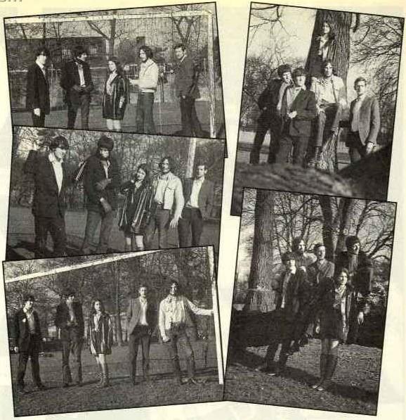 Left Handed Marriage z Brianem Mayem (w szaliku i rękawiczkach); Marble Hill Park w Twickenham, zima 1966 r.