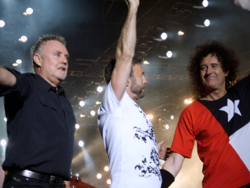 Roger Taylor, Paul Rodgers, Brian May; Santiago de Chile, 19.11.2008 r.; fot.: queenconcerts.com