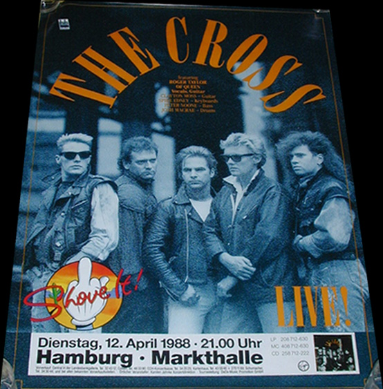 Plakat promujący koncert w Hamburgu, 12 kwietnia 1988 r.; fot.: queenconcerts.com