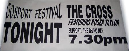 Plakat promujący ostatni koncert The Cross z Rogerem w składzie, fot.: queenconcerts.com